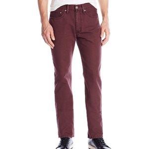 Levi's burgundy cotton pants 32×32